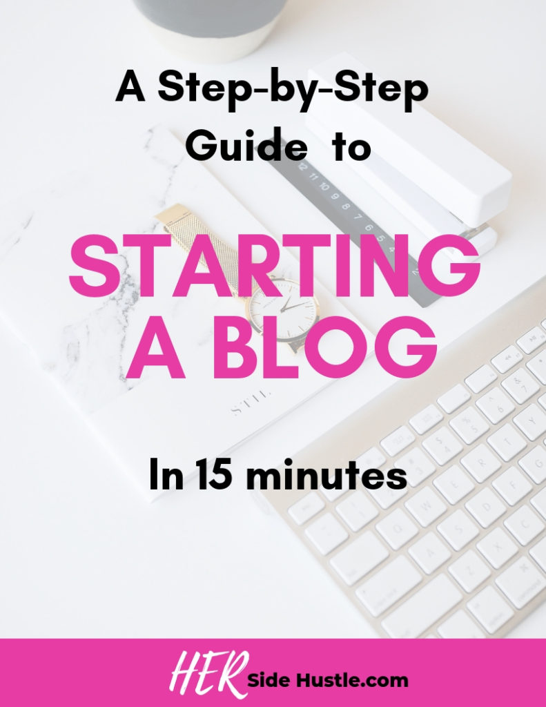How to start a blog in 15 minutes